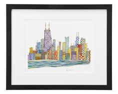 HOME SWEET HOME | watercolor painting, chicago | UncommonGoods