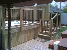 Depuis plus de 30 ans, nous aménageons des patios pour piscines hors terre, semi-creusées et creusées. Nous pouvons vous conseiller sur l'emplacement futur de votre piscine pour optimiser vos installations. Nous vous aidons aussi à prévoir des zones d'intimité pour votre projet en plus d'appliquer les règles de sécurité selon votre région ou selon vos... En savoir plus → Patio Plan, Pool Deck Plans, Decks Around Pools, Outdoor Fun, Outdoor Decor, Swimming Pools Backyard, Back Patio, Spa, Old Houses