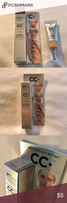 NWT Your Skin But Better CC Cream SPF 50+ ❤️ NWT - IT Cosmetics: Your Skin But Better CC Cream SPF 50+. Color is Medium. Size is 0.135 FL oz. ❤️ Sephora Makeup
