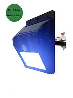 UmBeel TM Hook/Loop Bright Outdoor Solar Energy Powered LED Light- Weatherproof - Motion Sensor-Detector Activated / Wireless Exterior Security Lighting UmBeel http://www.amazon.com/dp/B00YY954PO/ref=cm_sw_r_pi_dp_Wyg6vb1HDNKRJ
