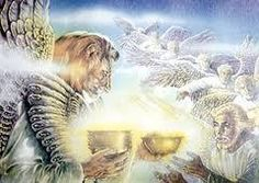 """Rev The Wrath of God: And one of the four living creatures gave to the seven angels seven golden bowls full of the wrath of God, the One living to the ages of the ages. SEE MORE click """"visit"""" Lord And Savior, God Jesus, Jesus Christ, Revelation 10, 7 Days Of Creation, The Tabernacle, Prophetic Art, Jesus Is Coming, New Testament"""