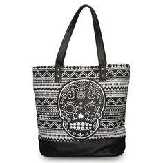 366c950928b9f Loungefly Purse Black and White Sugar Skull Tote Bag