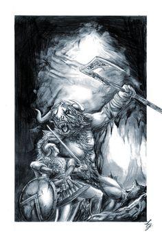 BA Minotaur and Theseus by LeonardoEnrique