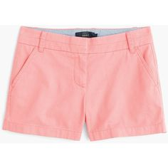 """J.Crew 4"""" Chino Short ($47) ❤ liked on Polyvore featuring shorts, zipper shorts, long shorts, rainbow shorts, j. crew shorts and chino shorts"""