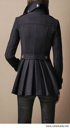 Burberry Black Trench Coat #trench #coat