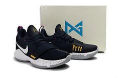 82fb0f17eda Young Big Boys Nike PG 1 Ferocity Obsidian University Gold Hyper Violet  Indiana Pacers 878627-