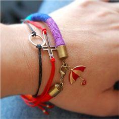 bracelets, rainbow, umbrella, sideways cross, infinity, eternity