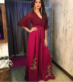 Shilpa Shetty # Ridhi Mehra # fusion look # cherry red love #