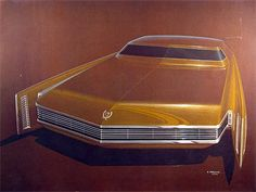 The Artwork Collection of automobile styling and design art at The museum of Automobile Art and Design. Car Design Sketch, Car Sketch, Car Illustration, Retro Futuristic, Car Drawings, Us Cars, Transportation Design, Automotive Design, Vintage Cars