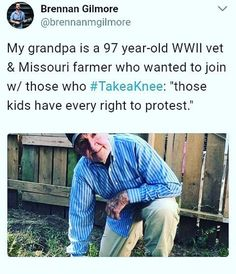 Taking a knee isn't about Veterans! It's about the fact that we served our country for the rights of the people to do so!