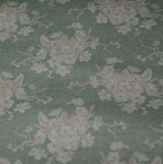 Tilda Stoff White flower graugrün von Engelwerk  auf DaWanda.com