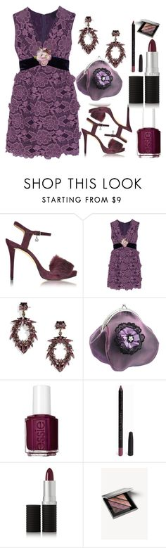 """""""Purple Dress"""" by deborah-calton ❤ liked on Polyvore featuring Michael Kors, Anna Sui, BaubleBar, Essie, MAKE UP STORE, Le Métier de Beauté and Burberry"""