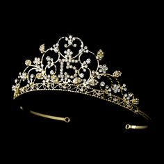 Gold Plated Rhinestone Quinceanera Sweet 15 Tiara! $46.99 Visit http://www.specialoccasionsforless.com for fabulous quinceanera accessories!