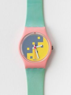 Vintage Swatch Blue Cassata Ladies' Watch...wow, I had this watch once upon a time. Who knew I should have kept it and sold it to a hipster for $100?