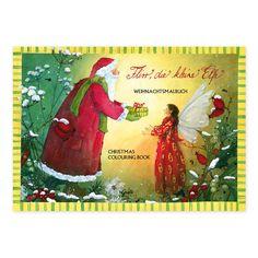 """Weihnachts-Malbuch DIN A5 """"Weihnachten mit Flirr"""". Liebevoll illustriert von Daniela Drescher. Hergestellt in Deutschland. https://www.graetz-verlag.de/weihnachtsmalbuch-flirr-die-kleine-elfe"""