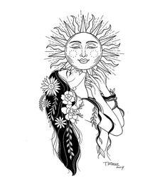 Tattoos And Body Art you are art tattoo Tattoo Sketches, Tattoo Drawings, Body Art Tattoos, Art Sketches, Art Drawings, Tatoos, Sun Tattoos, Hair Tattoos, Dream Tattoos