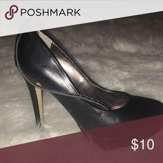 Heels Black heels with thin strap Worthington Shoes Heels