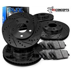 FRONT KIT 2453 CERAMIC Pads Platinum Hart *DRILLED /& SLOTTED* Brake Rotors