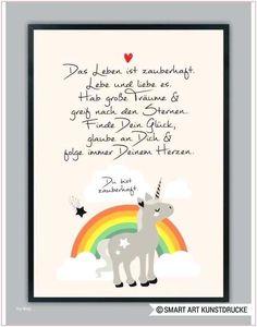 "Original print - ""RAINBOW UNICORN"" in pink, art print - a unique product by Smart-Art-Art Prints on DaWanda naissance # Designerstück # . Diy Birthday, Birthday Quotes, Happy Birthday, Birthday Images, Fun Wedding Invitations, Birthday Invitations, Citation Saint Valentin, Wallpaper World, Nursery Pictures"