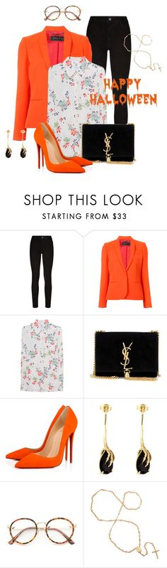 """Office friendly Halloween"" by lysianna ❤ liked on Polyvore featuring Paige Denim, Barbara Bui, True Religion, Yves Saint Laurent, Christian Louboutin and Wouters & Hendrix Gold"