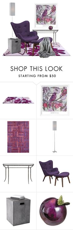 """""""Plum"""" by lovetodrinktea ❤ liked on Polyvore featuring interior, interiors, interior design, home, home decor, interior decorating, Safavieh, Uttermost and Sunpan"""