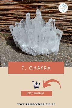 Für das Kronenchakra ist ein Bergkristall Cluster dein idealer Begleiter | Chakra Heilung | ganzheitliche Heilung | Kraft der Steine | besondere Geschenke | Dein Seelenstein - Heilsteine mit guter Qualität im online Shop in Österreich kaufen! Alle Heilsteine sind energetisch gereinigt | voll aktiviert | nur für dich! Chakra Heilung, Meditation, Cluster, Workshop, Holistic Healing, Chakras, Special Gifts, Crystals, Cleaning