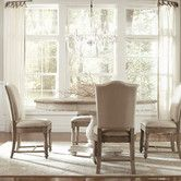 Lowest price online on all Riverside Furniture Coventry 5 Piece Dining Table Set in Weathered Driftwood and Dover White - Extendable Dining Table, Dining Table In Kitchen, Riverside Furniture, Dining Table Setting, Round Dining Set, Side Chairs Dining, Home Decor, Round Pedestal Dining Table, Dining Room Sets