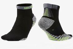 bff32a6c9 Nike Mens NikeGrip Lightweight Qtr Black Training Socks XL 12-15 SX5610-010  #