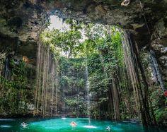 Ik-Kil.cenote.mexico  Tropical underworld in Yucatan