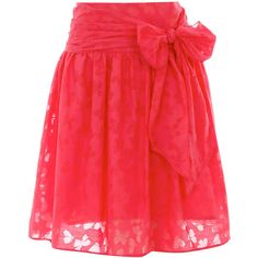 Coral butterfly burnout skirt ($19) via Polyvore. Its very stylish for the summer!