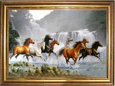 """""""In my view, the horses symbolize a perfect balance of freedom without restraints, unconditional loyalty, amazing power, tremendous strength and notable wisdom. Turtle Painting, Oil Painting Abstract, Horse Pictures, Art Pictures, Seven Horses Painting, Wild Horses Running, Horse Wallpaper, Bob Ross Paintings, Lotus Art"""