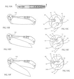 Brevet US20130047439 - Lock for a flip open knife, and mechanism for making same automatic - GoogleBrevets