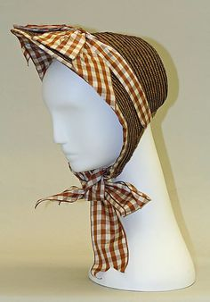 Bonnet  Date: 1858–62 Culture: American Medium: straw Dimensions: [no dimensions available] Credit Line: Gift of Edgar J. Lorie, Inc., in memory of Laddie Northridge, 1960 Accession Number: C.I.60.23.37