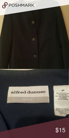 Navy Blazer Cute navy Blazer. 3 buttons. Gently worn in great condition. Alfred Dunner Jackets & Coats