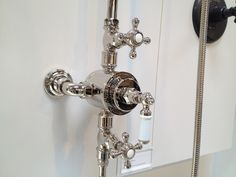 """Kallista exposed thermostatic shower for our bathroom, in polished nickel""  #kallista 