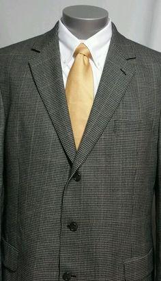 Luca Rossi Italia 50R Suit Coat Superior 150s Navy Blue Pinstripe