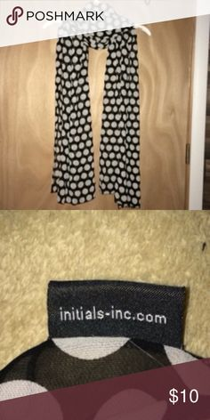 Initials inc. Women's polka dot scarf Initials Inc Women's Polka Dot Scarf. Smoke free home. initials inc Accessories Scarves & Wraps