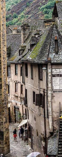 Conques, France - the medieval village that was inspiration for the massive set built for Beauty and the Beast. The set measured square feet. Places To See, Places To Travel, Places Around The World, Around The Worlds, Belle France, Beaux Villages, Visit France, France Travel, World Heritage Sites
