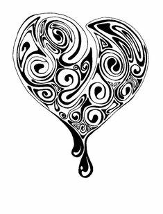 Unidea Per Realizzare Un Tatuaggio Cuoricino Con Allinterno Delle Decorazioni