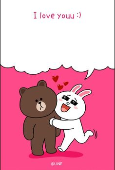 LINE Card I made about everyone's favorite relationship in Naruto. Cute Couple Cartoon, Cute Couple Art, Cute Couples, Bunny And Bear, My Teddy Bear, Don Day, Cony Brown, Lines Wallpaper, Cute Love Gif