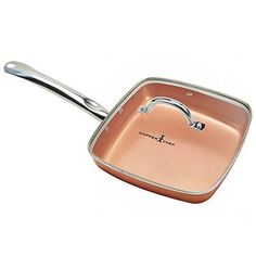 Copper-Chef-Fry-Pan-Kitchen-Cookware-Steel-Ceramic-9-5-Deep-Square-Frying-W-Lid
