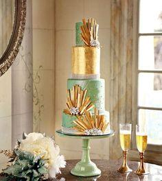 Art deco #wedding cake