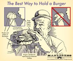 How to hold a burger and eat it, instead of wearing it.