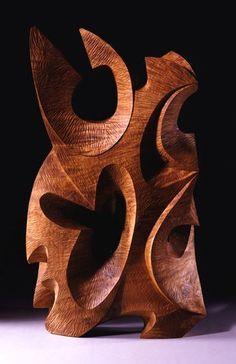 "David Groth ~ ""Harken"" ~ Wood Sculpture in Collection 2006 (Myrtlewood)"