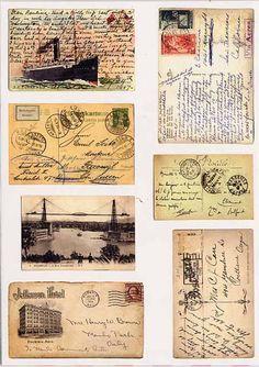 All about dollhouses and miniatures: Miniaturen gemaakt van papier Vintage Labels, Vintage Ephemera, Vintage Cards, Vintage Paper, Vintage Postcards, Vintage Images, Mail Art, Vintage Sticker, Planner Stickers