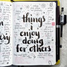 Day 24 of the #listersgottalist challenge: things that I enjoy doing for others. Journal prompt list idea