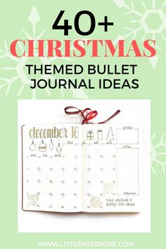 Over 40 Christmas themed bullet journal ideas to set up your bullet journal for December and the Christmas season. Bullet Journal For Beginners, Bullet Journal How To Start A, Bullet Journal Layout, Bullet Journal Inspiration, Journal Ideas, Bullet Journals, Bujo, Christmas Newsletter, Sticker Organization