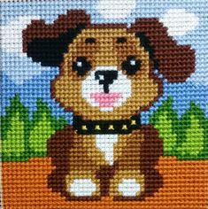 Cross Stitch Cushion, Cross Stitch Art, Cross Stitch Animals, Cross Stitching, Pixel Crochet, Christmas Cross, Baby Knitting Patterns, Yarn Crafts, Plastic Canvas