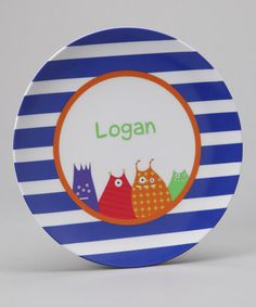 Preppy Plates Little Monsters Personalized Plate
