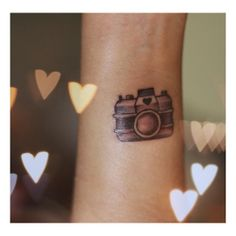 camera Tattoo - this would be so quick easy and cheap @Angela Rossi.. suck it up and lets do it!